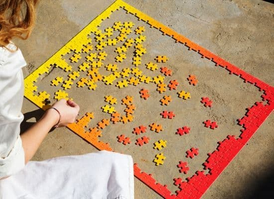 Red & Yellow Gradient Puzzle